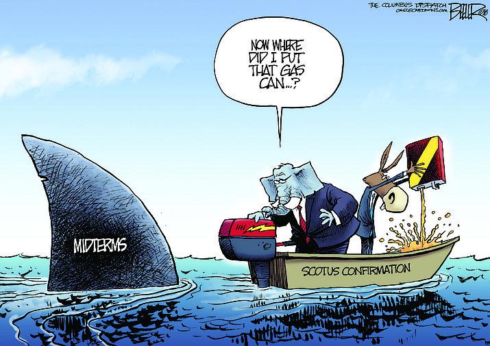 Editorial cartoon (1): Sept. 6, 2018