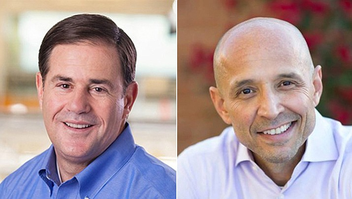 Republican Governor Doug Ducey and Democratic gubernatorial nominee David Garcia. (Photos courtesy of Garcia and Ducey campaign offices)