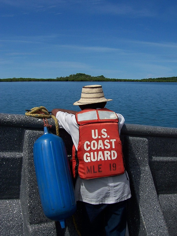 The Arizona Game and Fish Department, in partnership with The U.S. Coast Guard Auxiliary, Kingman (USCGAux 9-8), are continuing the 10th anniversary of the AZGFD Life Jacket Exchange Program. (Photo by Nat Edwards [Public domain], via Wikimedia Commons)