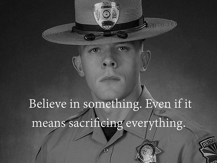 "Col. Frank Milstead, head of the Arizona Department of Public Safety, slammed Nike's ""Just Do It"" campaign from his personal Twitter account without mentioning Kaepernick by name. Milstead tweeted late Wednesday a picture of a DPS trooper killed in July with words from a Nike ad written over it. (Twitter @frank_milstead)"