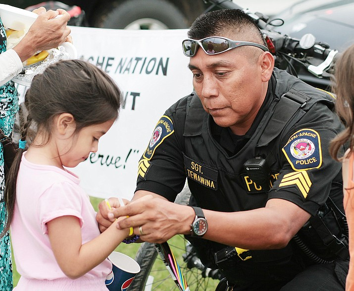 Meet with local law enforcement, such as the Camp Verde Marshal's Office and the Yavapai-Apache Police Department, pictured, at Camp Verde's National Night Out, from 5 p.m. until 7 p.m. Tuesday, Oct. 2 on Main Street. VVN/Bill Helm