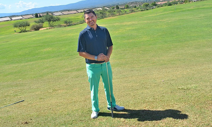 Emanuel Radoccia, the Agave Highland's head golf professional and manager, said he was excited to get back to the local golf course where he once worked in the golf cart barn while at Mingus Union High School. VVN/Vyto Starinskas