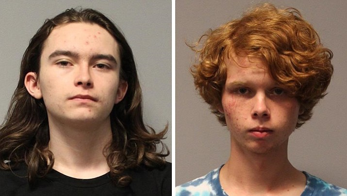 Franky Lopez, 18, left, and 18-year-old Trinity Trunick along with another 16-year-old male were arrested Aug. 28 after shooting a Smith and Wesson 38 Special at Fain Park in Prescott Valley. (PVPD/Courtesy)