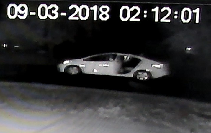 A suspect vehicle is pictured that is wanted by the Prescott Valley Police Department in conjunction with a string of auto burglaries Sept. 3. (PVPD/Courtesy)