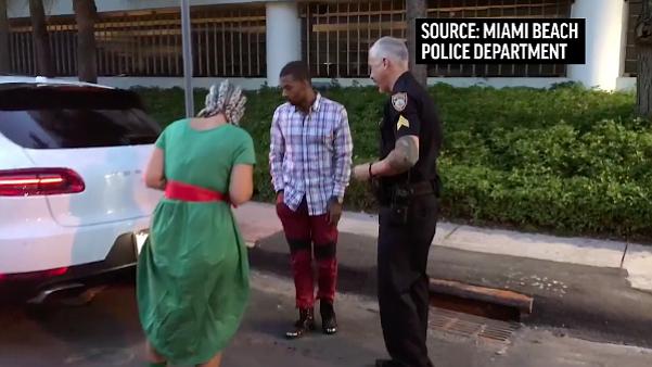 Traffic stop proposal in Miami Beach, Florida. (Miami Beach Police Department)