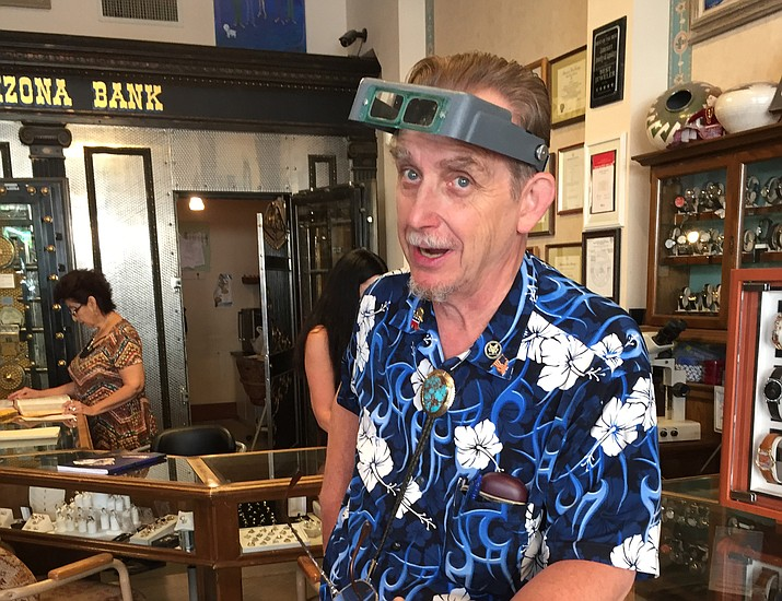 Jim Lamerson in his jewelry store in Prescott. (George Lurie/Courier)