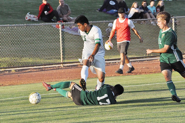 Yavapai College lost only its 17th match in 30 years at home Saturday night, this one to Scottsdale Community College. (Yavapai College/Courtesy)