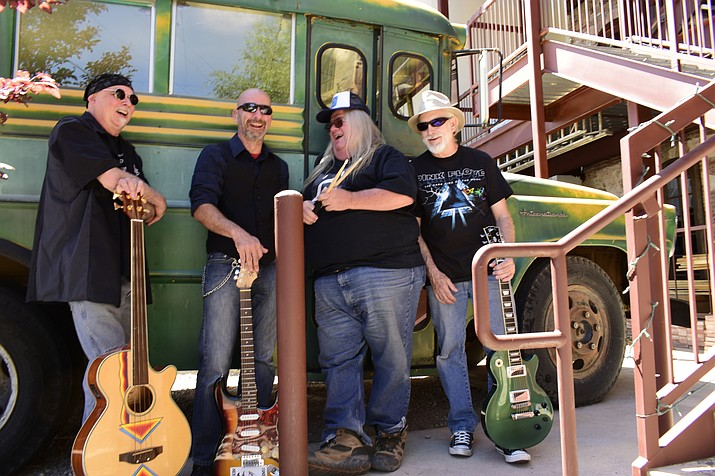 New to venues around the Verde Valley, Latex Johnny formed earlier this year with bassist Art Gecko pulling together with vocalist Mark Lucherini on guitar and singing drummer Danny Dubose, to form a band dedicated to playing in a style that first and foremost inspires them.