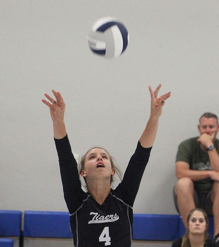 Lynsey Day notched 17 assists, six kills and five blocks Monday night in a 3-2 win over Lake Havasu. (Daily Miner File Photo)