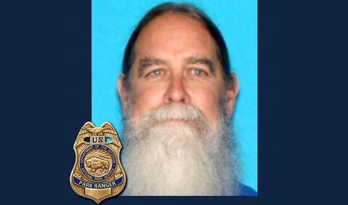 Mike Howard is 6 feet tall, 190 pounds, has blue eyes, gray/brown hair and a long gray beard. He was wearing a yellow T-shirt, shorts and Keen water shoes. Anyone with information that might help in the search for Howard is asked to contact National Park Service Silent Witness Line at 928-638-7840. (NPS)