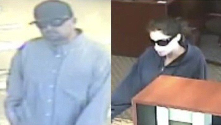 FBI officials say 39-year-old Seitaro Kline and 34-year-old Carrie Kline — nicknamed the Criss-Cross Bandits — were wanted in connection with nine bank heists in metro Phoenix between November 2016 and July 2018. (Bank surveillance photos/FBI)