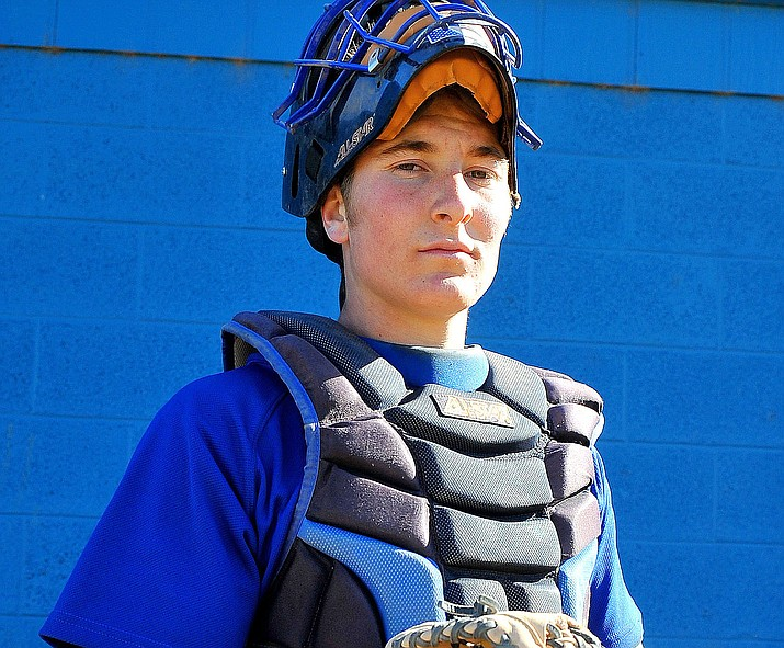 This photo of former Chino Valley catcher Nathan Zavos was taken April 6, 2010. (Courier file photo)
