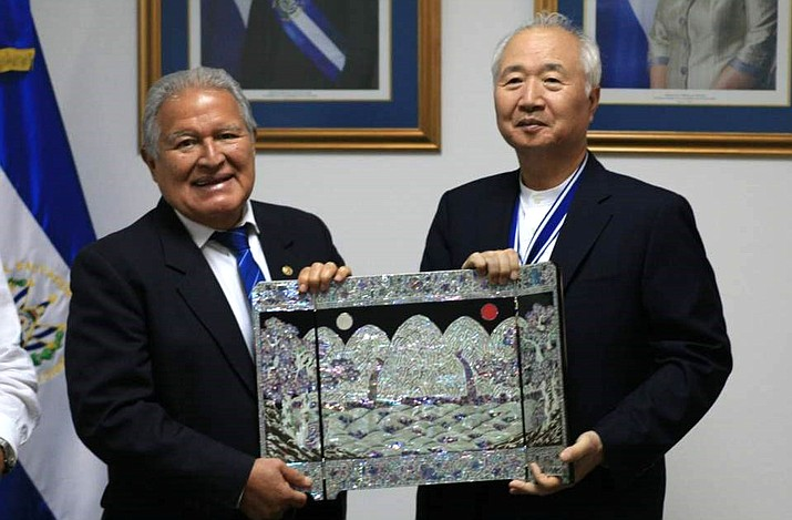 The founder of Sedona's Mago Retreat, Ilchi Lee, was given the national award, José Simeón Cañas Slave Liberator Order, at the El Salvador Ministry of Foreign Affairs Sept. 12.