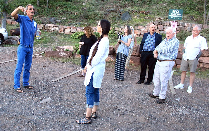 Jerome Town Council members meet at the Hull Avenue parking lot to talk about possible future improvements. VVN/Kelcie Grega