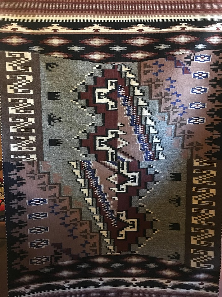 A rug by Justin Cody Smith that will be at the Smoki Museum's fall rug auction this weekend. (Courtesy)
