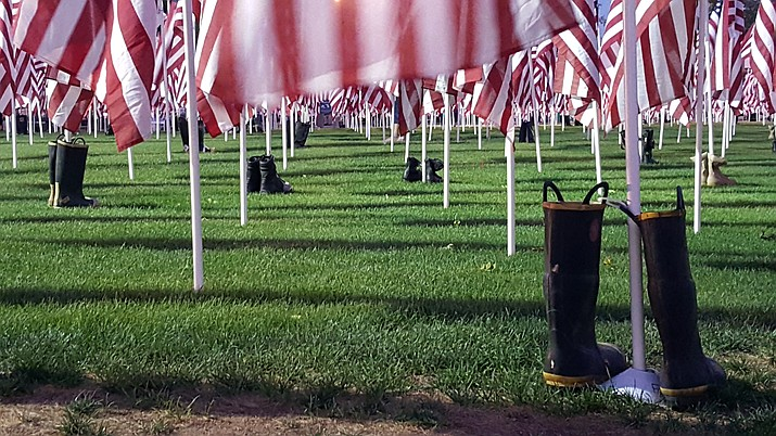 The 2018 Healing Fields in Prescott Valley, Arizona. (Photo by Dawn Adair/The Daily Courier)