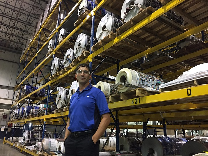 Marcus Fouss, Printpack's performance systems manager. (George Lurie/Courier)