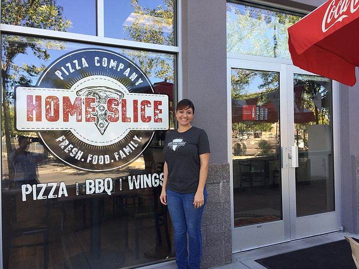 Dianna Siegfried, owner of Home Slice Pizza in Prescott Valley. (George Lurie/Courier)