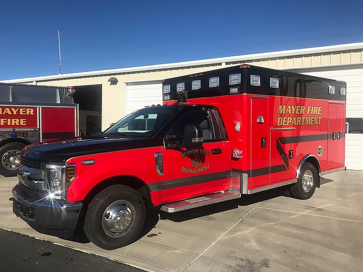 A new ambulance will be in service for the Mayer Fire Department (MFD) next week. The 2016 model will be replacing a 2008 model that has well over 200,000 miles on it, said MFD Battalion Chief Michael McGhee. The new vehicle cost the department $156,000 and should be responding to calls by next week, he said. (Mayer Fire Department/Courtesy)