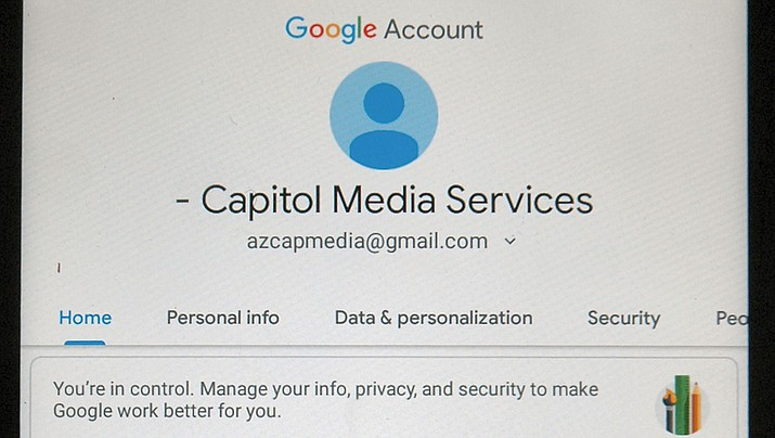 This is one of the menus Android phone and tablet users have to navigate in efforts to actually block Google from tracking movements and other information. (Capitol Media Services photo by Howard Fischer)