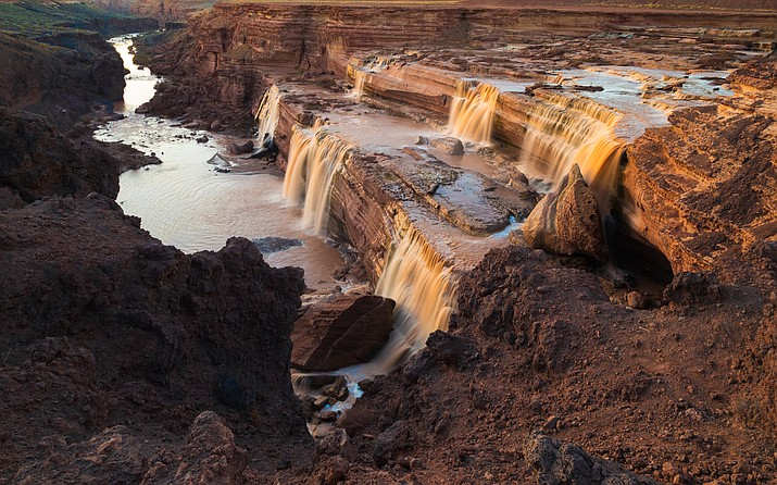 The Little Colorado River flows over Grand Falls in northern Arizona. (Stock photo)