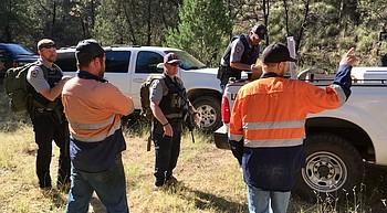 Camp Verde man wrestles with black bear near Patagonia photo