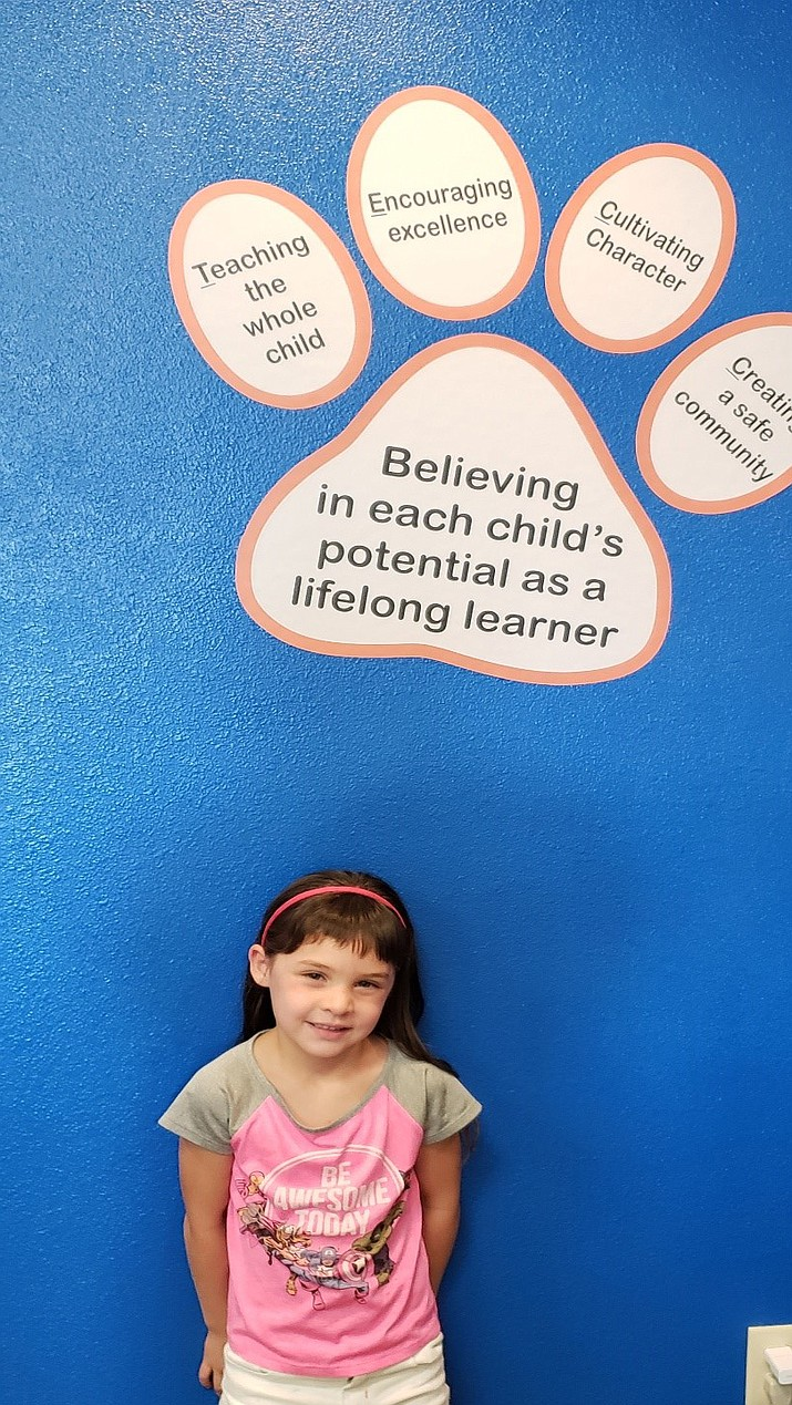Zariah Rosas is the Territorial Early Childhood Center student of the week. (CVUSD/Courtesy)