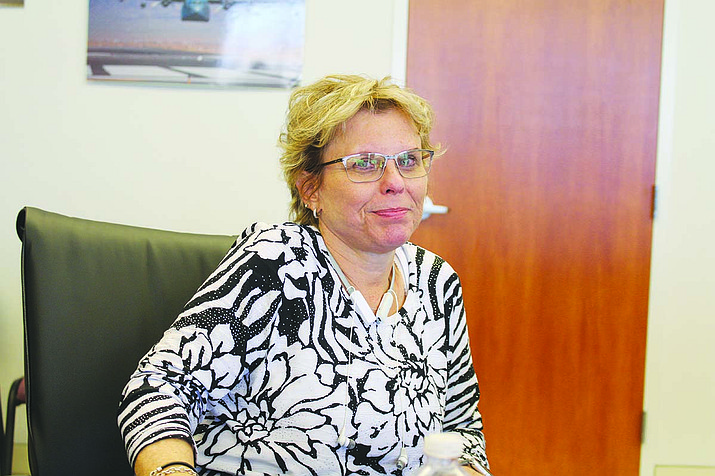 Mohave County Supervisor Hildy Angius led the discussion at Monday's board meeting about joining the national opioid litigation, saying she doesn't want the county to miss out on possible settlement money 10 years down the road. (Photo by Hubble Ray Smith/Daily Miner)