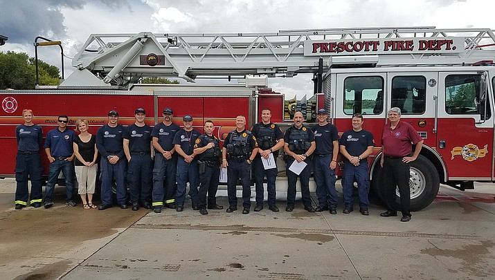 Prescott Fire Department honors police officers for EMS aid