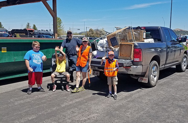 Several truckloads of garbage was collected in the spring clean-up day in Williams. The fall community clean-up day is Sept. 22.