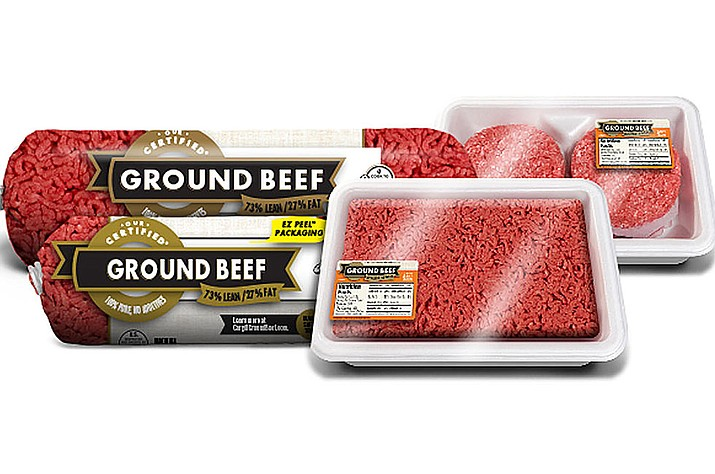The products include 3-, 10- and 20-pound packages of ground beef under the Our Certified, Excel, Sterling Silver, Certified and Fire River Farms brands with July 11 use or freeze by dates. (Courtesy)