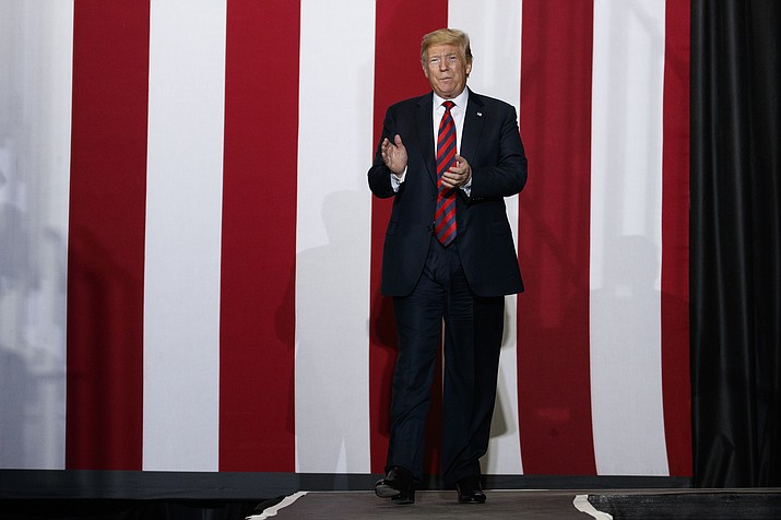 President Donald Trump arrives to speak during a campaign rally, Friday, Sept. 21, 2018, in Springfield, Mo. (Evan Vucci/AP)