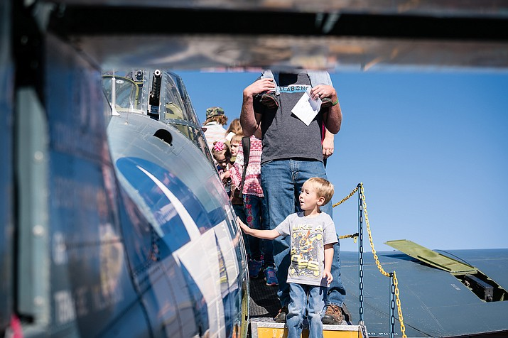 Young and old were allowed to get up close and personal with small aircrafts during Embry-Riddle Aeronautical University's 2017 airshow. (Courtesy)