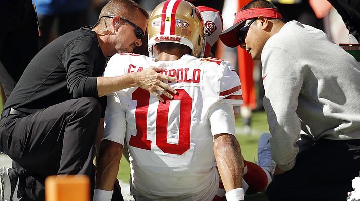 49ers lose QB Jimmy Garoppolo to season-ending knee injury