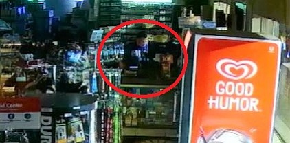 A freeze-frame from a security video shows a man behind the counter of a Corrall Market/Shell Gas station in Ash Fork just before 1 a.m. Friday, Sept. 21. The man is believed to have stolen vendor checks and lottery tickets. Police are seeking any information the public may have on this man.
