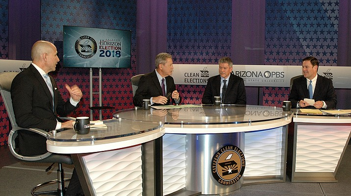 Governor candidates Ducey, Garcia, Torres face off in televised debate