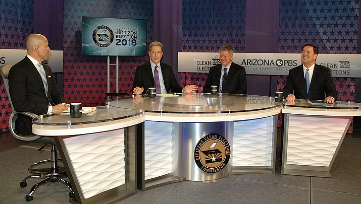 Arizona Republican governor and Democrat rival debate again