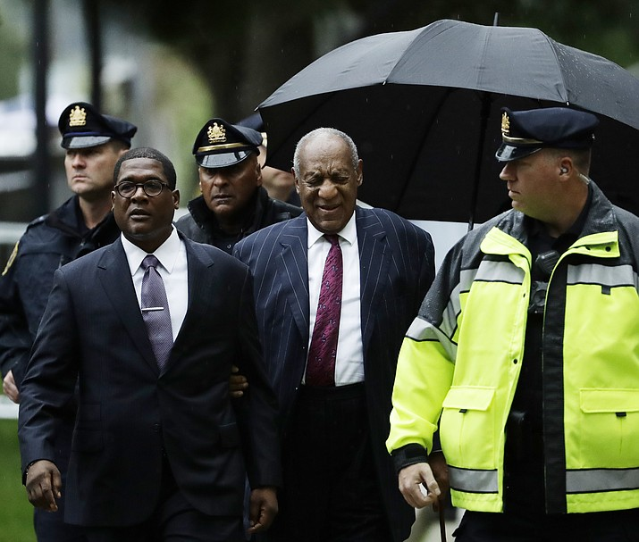 Bill Cosby arrives for his sentencing hearing at the Montgomery County Courthouse, Tuesday, Sept. 25, 2018, in Norristown, Pa. (Matt Slocum/AP)
