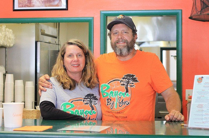 Tricia and J.D. O'Reilly have opened the Cajun restaurant Bayou By You on Route 66 in Williams.