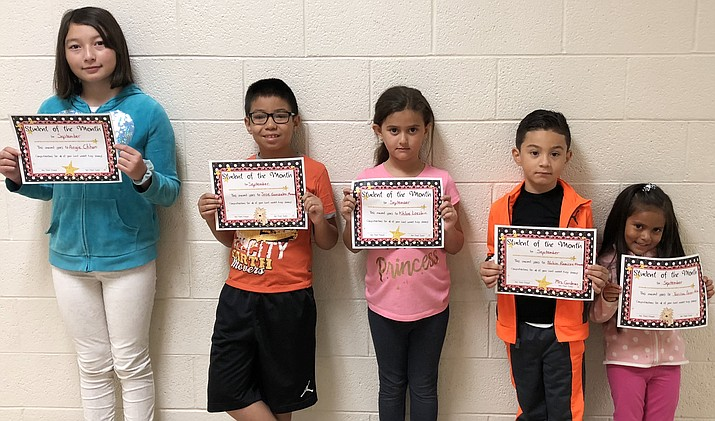 Yaritza Perez-Mata, Nahim Ramirez, Khloe Loeslein, Jose Gonzalez Mercado and Angie Chun are Williams Elementary Students of the Month. (Submitted photo)