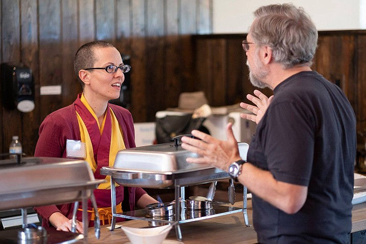The IKRC Grand Canyon hosted the open house to help inform and give out information about the variety of courses and retreats offered Sept. 15. (Photo courtesy of International Kadampa Retreat Center Grand Canyon)