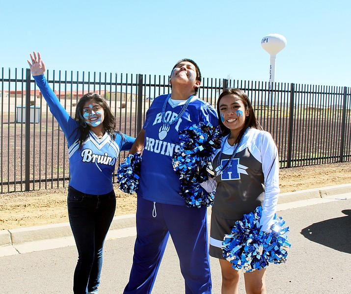 Hopi High cheerleaders show school spirit during the 2018-2019 Homecoming festivities at Hopi High School. (Stan Bindell/NHO)