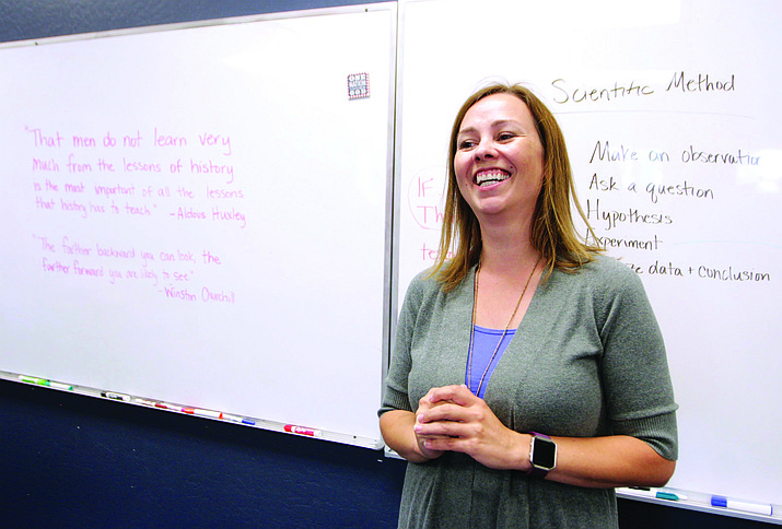 Including the years Kelly Maize has taught photography and painting, the eighth grade teacher at Camp Verde's American Heritage Academy has been in the classroom for nine years. VVN/Bill Helm