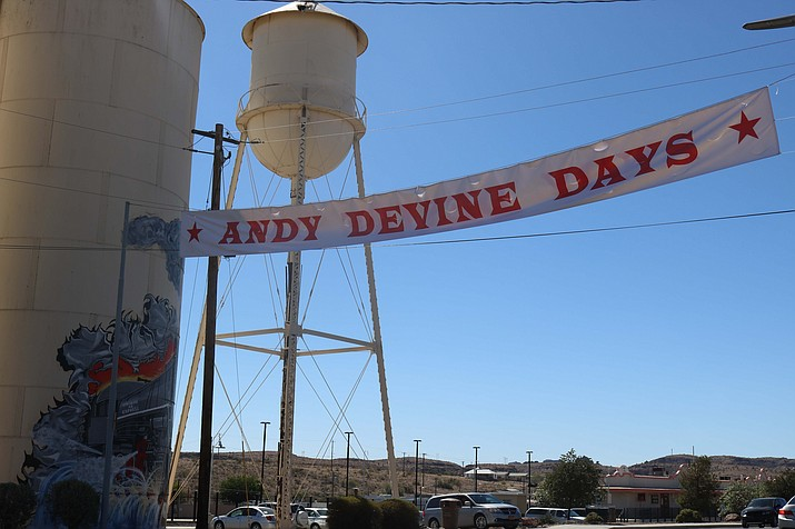 City Tourism Director Josh Noble and Engineering Department employee Nick Bowers spoke with The Daily Miner on Wednesday about the efforts required to pull off the Andy Devine Days Festival. (Photo by Travis Rains/Daily Miner)