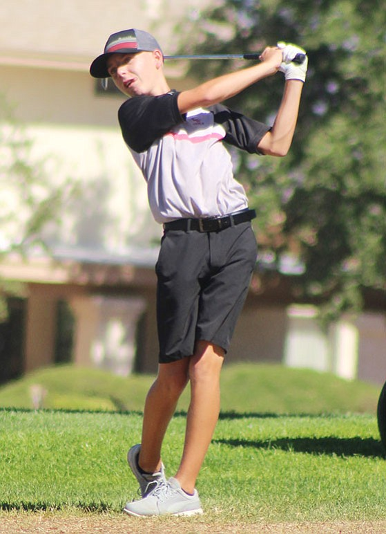 Cole Finch shot a 5-over 41 to take first place Tuesday at Laughlin Ranch Golf Course. The Vols also took first as a team with a 46-over 190. (Daily Miner file photo)