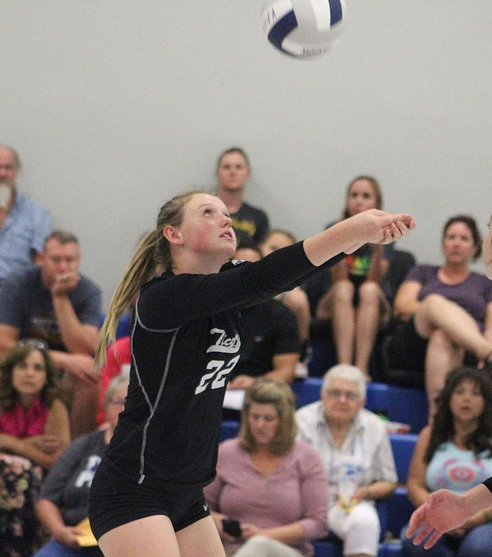 Kingman Academy freshman Kirsta Thomson has shown great signs for the Lady Tigers since stepping into a bigger role. (Photo by Beau Bearden/Daily Miner)