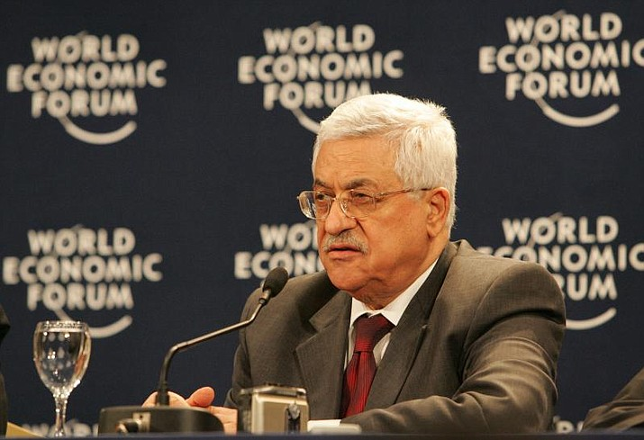 Palestinian President Mahmoud Abbas (Photo by World Economic Forum from Cologny, Switzerland (AbuMazem) [CC BY-SA 2.0  (https://creativecommons.org/licenses/by-sa/2.0)], via Wikimedia Commons)