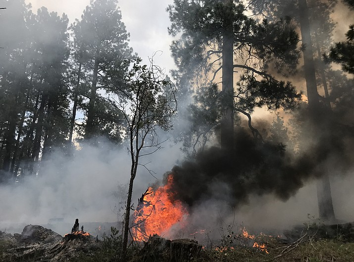 Kaibab National Forest continues a prescribed burn south of Williams through the weekend.