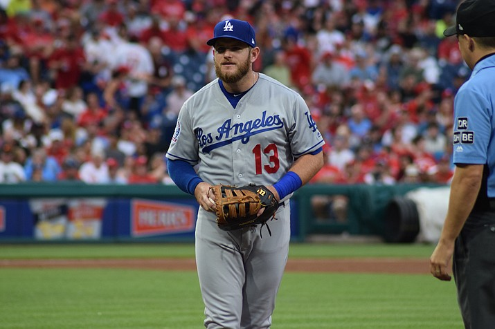 Max Muncy hit his 35th homer against the Rockies Monday. The Dodgers get two days off before the division series. The Rockies were headed to Chicago immediately after the game. (By Ian D'Andrea [CC BY-SA 2.0  (https://creativecommons.org/licenses/by-sa/2.0)], via Wikimedia Commons)