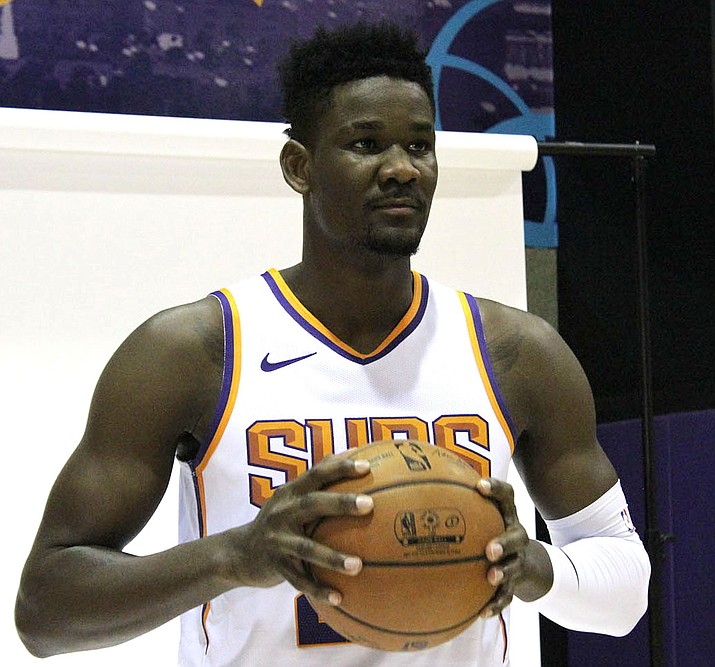 Phoenix's Deandre Ayton finished with 24 points and 10 rebounds Monday night in a loss to Sacramento. (Miner file photo)